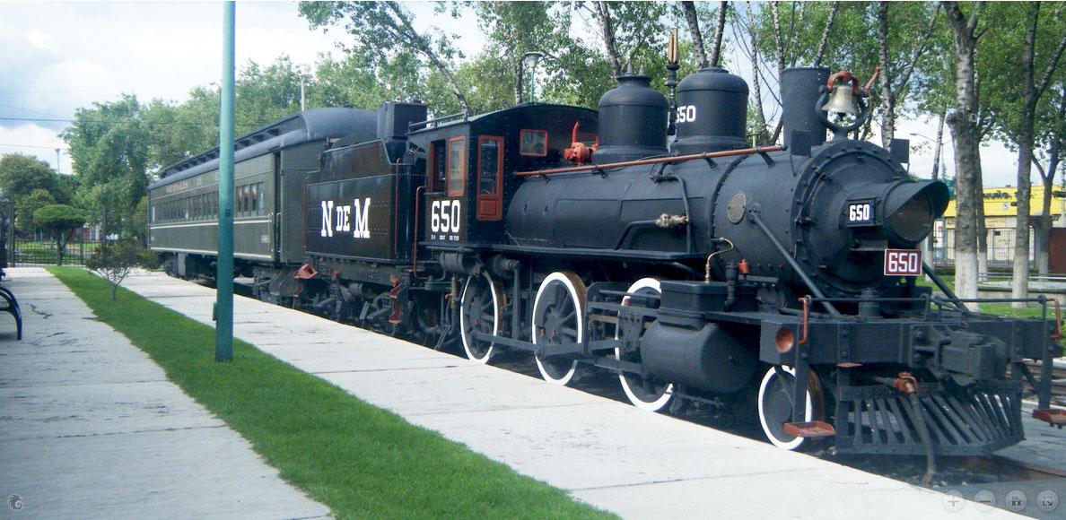 Uno de los varios ferrocarriles con la que cuenta el Museo Nacional de los Ferrocarriles Mexicanos